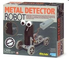 4M-Projects Remote Control Metal Detector Robot Kit Science Engineering Kit #4607