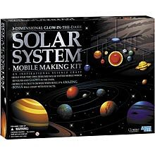 4M Project Kits 3-D Glow-in the-Dark Solar System Mobile Making Kit -- Astronomy Kit -- #5219