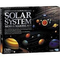 4M-Projects 3-D Glow-in the-Dark Solar System Mobile Making Kit Astronomy Kit #5219