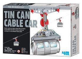 4M-Projects Tin Can Cable Car Kit Science Engineering Kit #5575