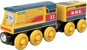 Fisher-Price Rebecca Thomas and Friends(TM) Wooden Railway Yellow, Blue, Red
