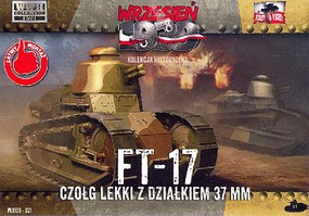 First-To-Fight 1/72 FT17 Light Tank w/Round Turret & 37mm Gun