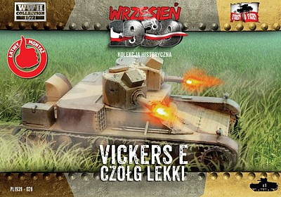 First-To-Fight 1/72 WWII Vickers E Polish Light Tank w/Double Turret