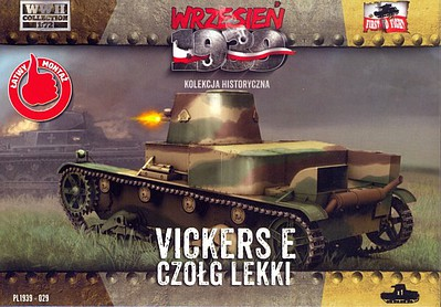 First-To-Fight 1/72 WWII Vickers E Polish Light Tank w/Single Turret