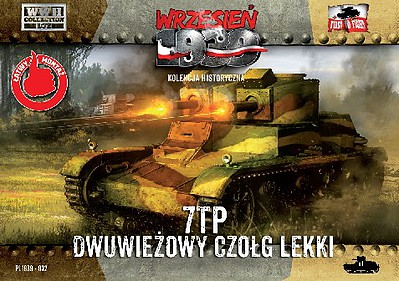 First-To-Fight 1/72 WWII 7TP Polish Light Tank w/Double Turret