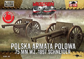 First-To-Fight 1/72 WWII 75mm Wz1897 Schneider Polish Field Cannon (2)