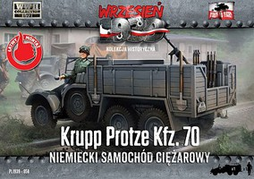 First-To-Fight 1/72 Krupp Protze Kfz70 Army Truck w/Soldier