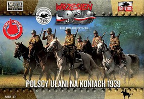 First-To-Fight 1/72 WWII Polish Uhlans on Horseback (6 Mtd)