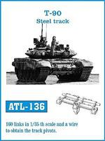 Fruilmodel T90 Steel-Type Tank Track Link Set (160 Links) Plastic Model Tank Tracks 1/35 #136