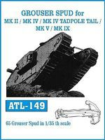 Fruilmodel 1/35 Grouser Spud for Mk II/IV, MK IV Tadpole Tail, Mk V/IX Track Set (65 Links)