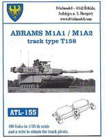 Fruilmodel 1/35 Abrams M1A1/M1A2 Type T158 Track Set (160 Links)