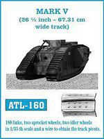 Fruilmodel 1/35 Mark V (26-1/2 inch- 67.31cm Wide) Track Set (180 Links & 2ea. Sprocket/Idler Wheels)