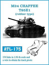 1/35 M24 Chaffee T85E1 (Rubber-Type) Track Set (170 Links)