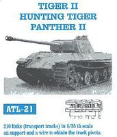 Fruilmodel Tiger II Hunting Tiger Panther II Transport Tank Track Plastic Model Tank Tracks 1/35 #21