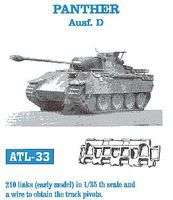 Fruilmodel Panther Ausf D Early Tank Track Link Set (210 Links) Plastic Model Tank Tracks 1/35 #33