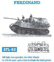 Fruilmodel Ferdinand Tank Track Link Set (240 Links) Plastic Model Tank Tracks 1/35 Scale #62