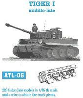 Fruilmodel Tiger I Mid-Late Tank Track Link Set (220 Links) Plastic Model Tank Tracks 1/35 #6