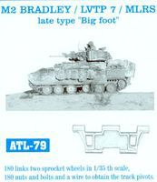 Fruilmodel M2 Bradley/LVTP 7/MLRS Late Big Foot Tank Track Link Set Plastic Model Tank Tracks 1/35 #79