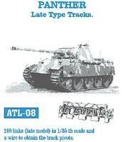 Fruilmodel Panther Late Tank Track Link Set (210 Links) Plastic Model Tank Tracks 1/35 Scale #8