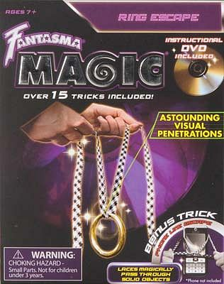 Fantasma Toys Ring Escape Magic with DVD -- Magic -- #508dv
