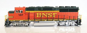 Fox EMD GP60M w/LokSound & DCC Burlington Northern Santa Fe #128 (H2, orange, green, yellow BNSF)