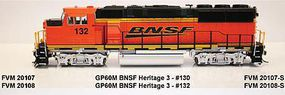Fox GP60M DC BNSF H3 #132 HO Scale Model Train Diesel Locomotive #20108