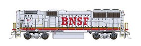 Fox EMD GP60B w/LokSound & DCC Burlington Northern Santa Fe #325 (Warbonnet, silver, red, Large BNSF)