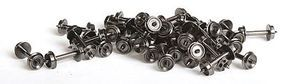 Fox 28'' Wheels pkg(100) (.540'' Axle) N Scale Model Train Truck #2801100