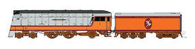 Fox 4-4-2 DC Milwaukee Road Indian Logo N Scale Model Train Steam Locomotive #40013