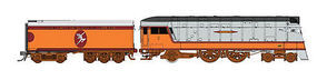 Fox 4-4-2 DC Milwaukee Road Half Moon Logo N Scale Model Train Steam Locomotive #40014