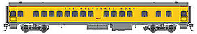 Fox 1935-Built Bunk Coach Milwaukee Road #4444 N Scale Model Train Passenger Car #40103