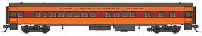 Fox 1935-Built Bunk Coach Milwaukee Road #4447 N Scale Model Train Passenger Car #40108