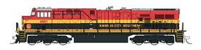 Fox GE ES44AC Standard DC - Kansas City Southern N Scale Model Train Diesel Locomotive #70210