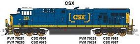 Fox GE ES44AC CSX #963 (Dark Future, blue, yellow) N Scale Model Train Diesel Locomotive #70282