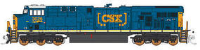 Fox GE ES44AC GEVO - Standard DC - CSX #3029 N Scale Model Train Diesel Locomotive #70286