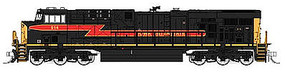 Fox GE ES44AC GEVO Standard DC Iowa Interstate #514 N Scale Model Train Diesel Locomotive #70288
