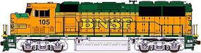 Fox EMD GP60M DC Burlington Northern Santa Fe #116 N Scale Model Train Diesel Locomotive #70506