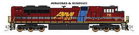 Fox EMD SD70ACe Arkansas & Missouri #72 N Scale Model Train Diesel Locomotive #71103