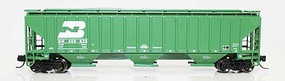 Fox 4750 Cu.Ft. 3-Bay Covered Hopper - Ready to Run Burlington Northern 459557 (Cascade Green, 1990s Scheme, 3-Line) - N-Scale