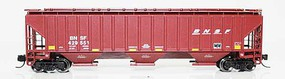Fox 4750 Cu.Ft. 3-Bay Covered Hopper - Ready to Run BNSF Railway 429551 (Boxcar Red, Small Wedge Logo) - N-Scale