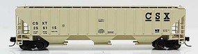Fox 4740 Cu.Ft. 3-Bay Covered Hopper - Ready to Run CSX 256115 (beige, black) - N-Scale