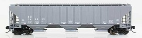 Fox 4740 Cu.Ft. 3-Bay Covered Hopper - Ready to Run Illinois Central 765268 (gray) - N-Scale