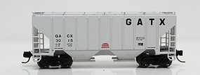 Fox 3000 Cu.Ft. 2-Bay Covered Hopper - Ready to Run GATX 3015 (gray, Large GATX) - N-Scale