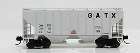 Fox 3000 Cu.Ft. 2-Bay Covered Hopper - Ready to Run GATX 3057 (gray, Large GATX) - N-Scale
