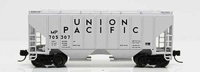 Fox 3000 Cu.Ft. 2-Bay Covered Hopper - Ready to Run Union Pacific MP 705328 (gray, black) - N-Scale