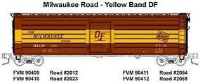 Fox 50 Single-Door Rib-Side Boxcar Milwaukee Road #2054 N Scale Model Train Freight Car #90411