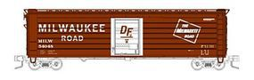 Fox 50 Single-Door Rib-Side Boxcar Milwaukee Road #54048 N Scale Model Train Freight Car #90421
