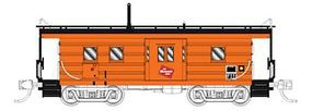 Fox High-Window Rib-Side Caboose Milwaukee Road #01 N Scale Model Train Freight Car #91013