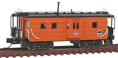 Fox Valley Models High-Window Rib-Side Caboose Milwaukee Road #01 -- N Scale Model Train Freight Car -- #91014