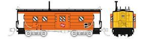 Fox Milwaukee Road High-Window Rib-Side Caboose N Scale Model Train Freight Car #91015
